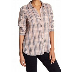 Melrose & Market | Blush Plaid Top